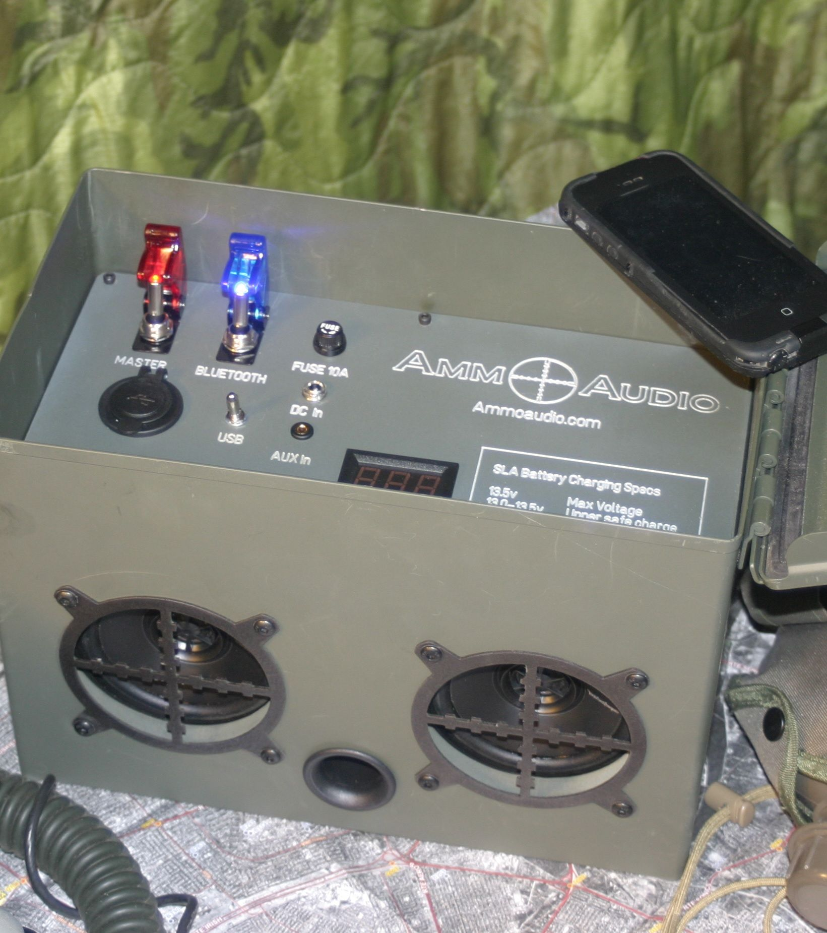 Ammo Audio Veteran Made Bluetooth Portable Speaker Ammo Box Ammo Cans Speaker Projects