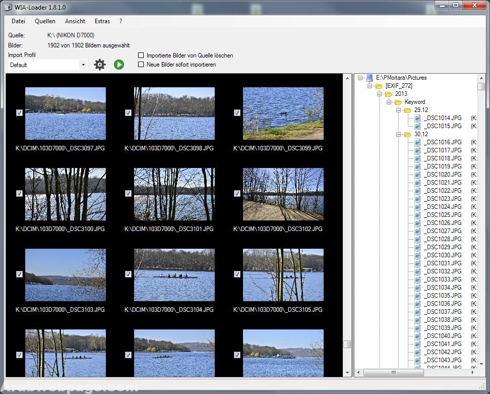 تحميل برنامج نقل الصور من الكاميرا الى الكمبيوتر Wia Loader Portable الصفحة العربية Screenshots Desktop Screenshot
