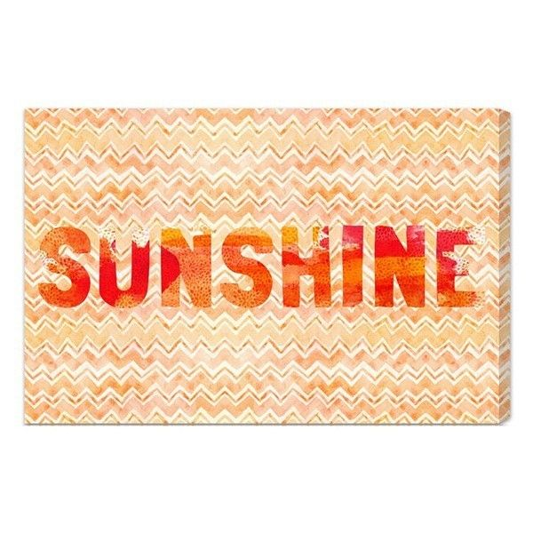Oliver Gal \'Sunshine\' Wall Art ($120) ❤ liked on Polyvore featuring ...
