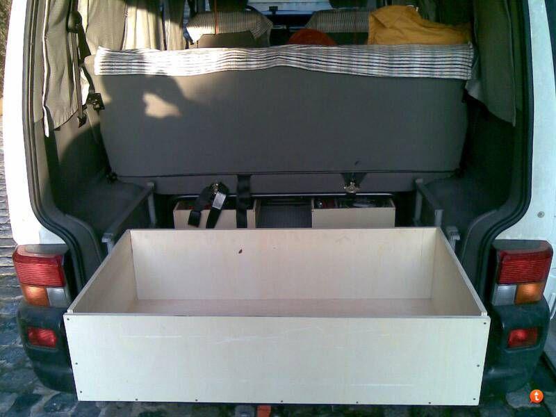 cajon extraible en multivan vw t4 multivan camper pinterest. Black Bedroom Furniture Sets. Home Design Ideas