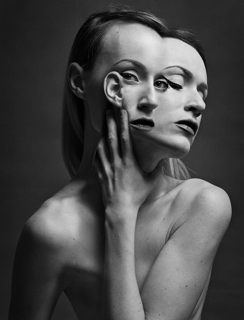 Flora Borsi Abstracts Anatomy To Form Siamese Self Portraits Body Art Photography Portrait Experimental Photography