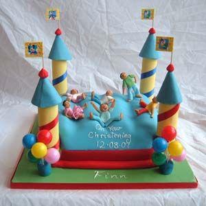 bouncing castle cakes Google Search bouncing castle cake