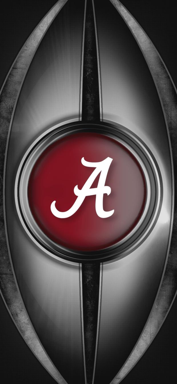 metal2 Alabama Crimson Tide Football logo iPhone