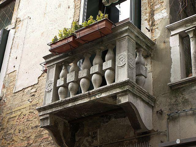 Venice balcony marble