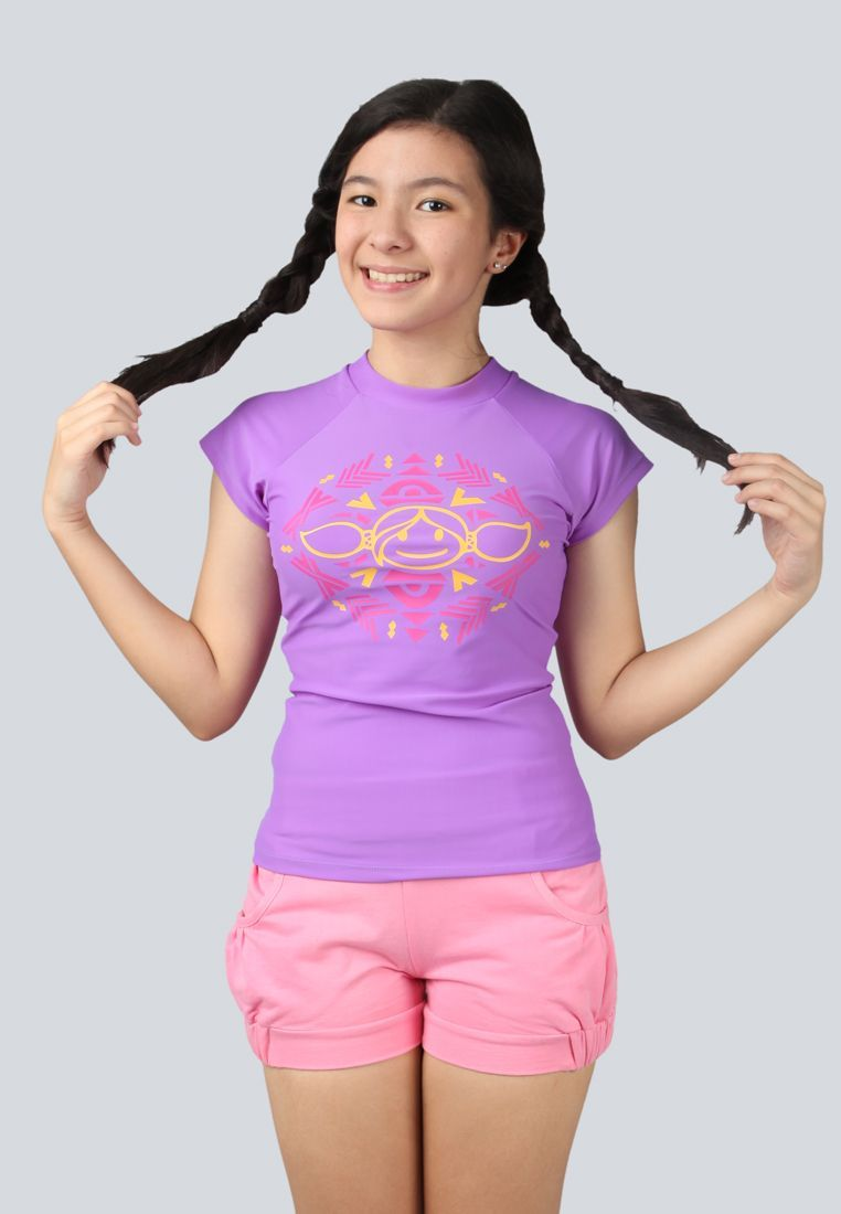 Surfer Girl Purple T Shirt And Creamy Pink Pants