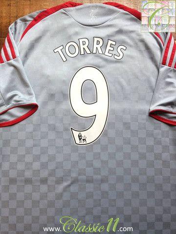 Relive Fernando Torres  2008 2009 Premier League season with this vintage  Adidas Liverpool away football shirt. 49704e72e