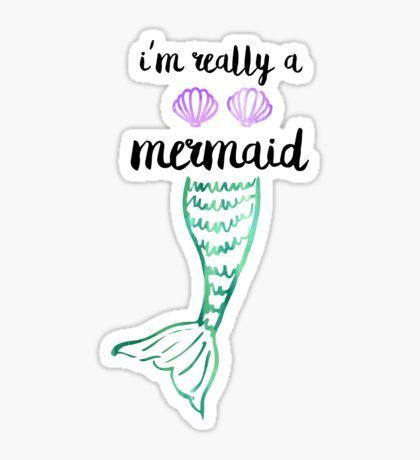 Mermaid Tail Mermaid Sticker Bubble Stickers Aesthetic Stickers