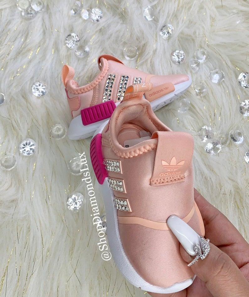 Swarovski Custom Adidas NMD 360 Baby Toddler Bling Pink | Etsy ...