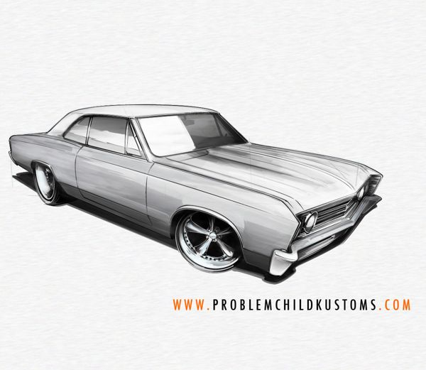A Peek Into My Process Drawing A Chevelle Using Pencil Paper