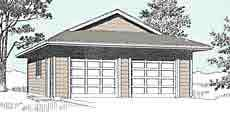 Modern exterior house colors - Suv Sized 2 Car Garage With Dutch Gable Roof Plan No 676 3 Yard