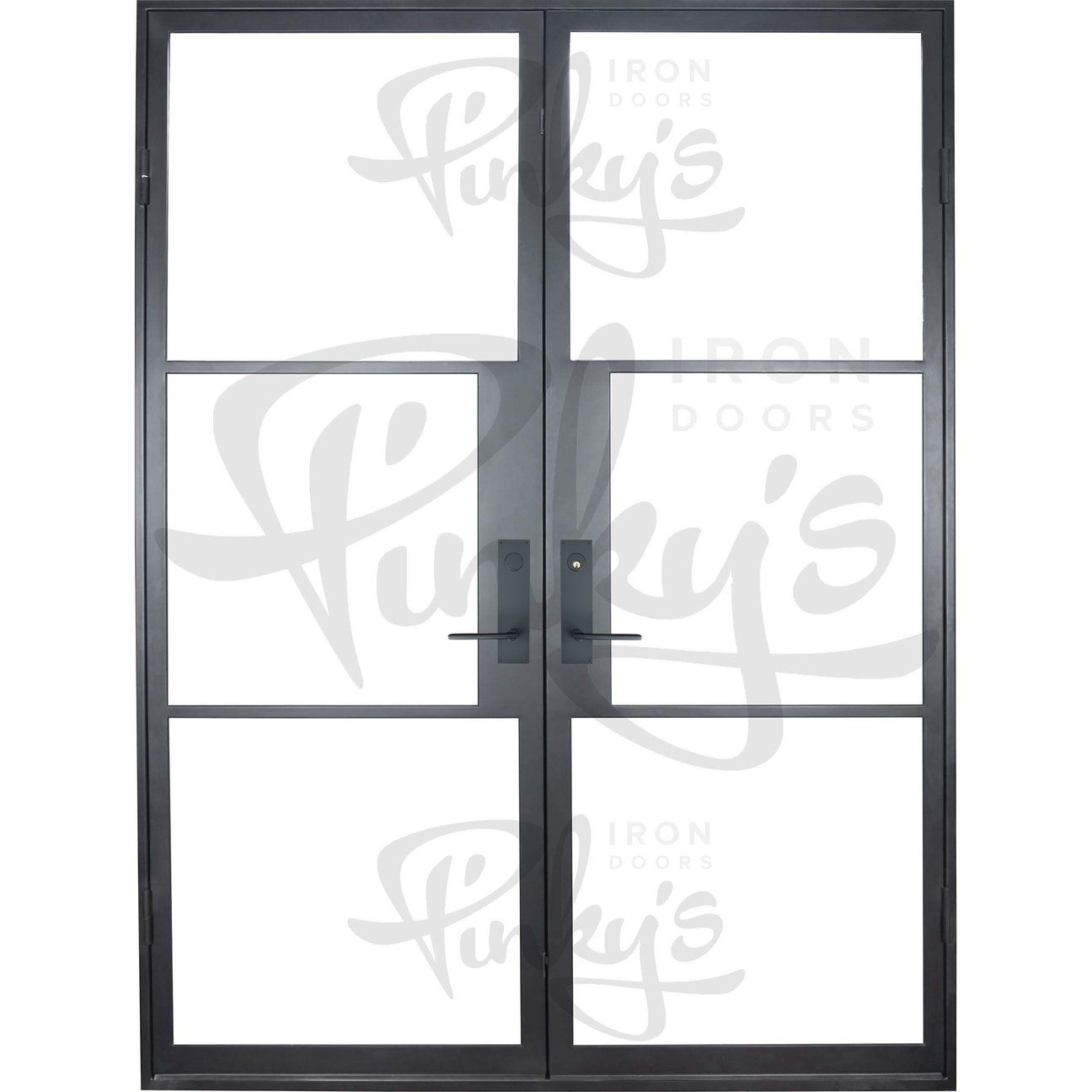 Air 4 Double Flat Iron Doors French Doors Steel Door Design