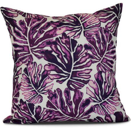 Simply Daisy Palm Leaves Floral Print Outdoor Pillow Products