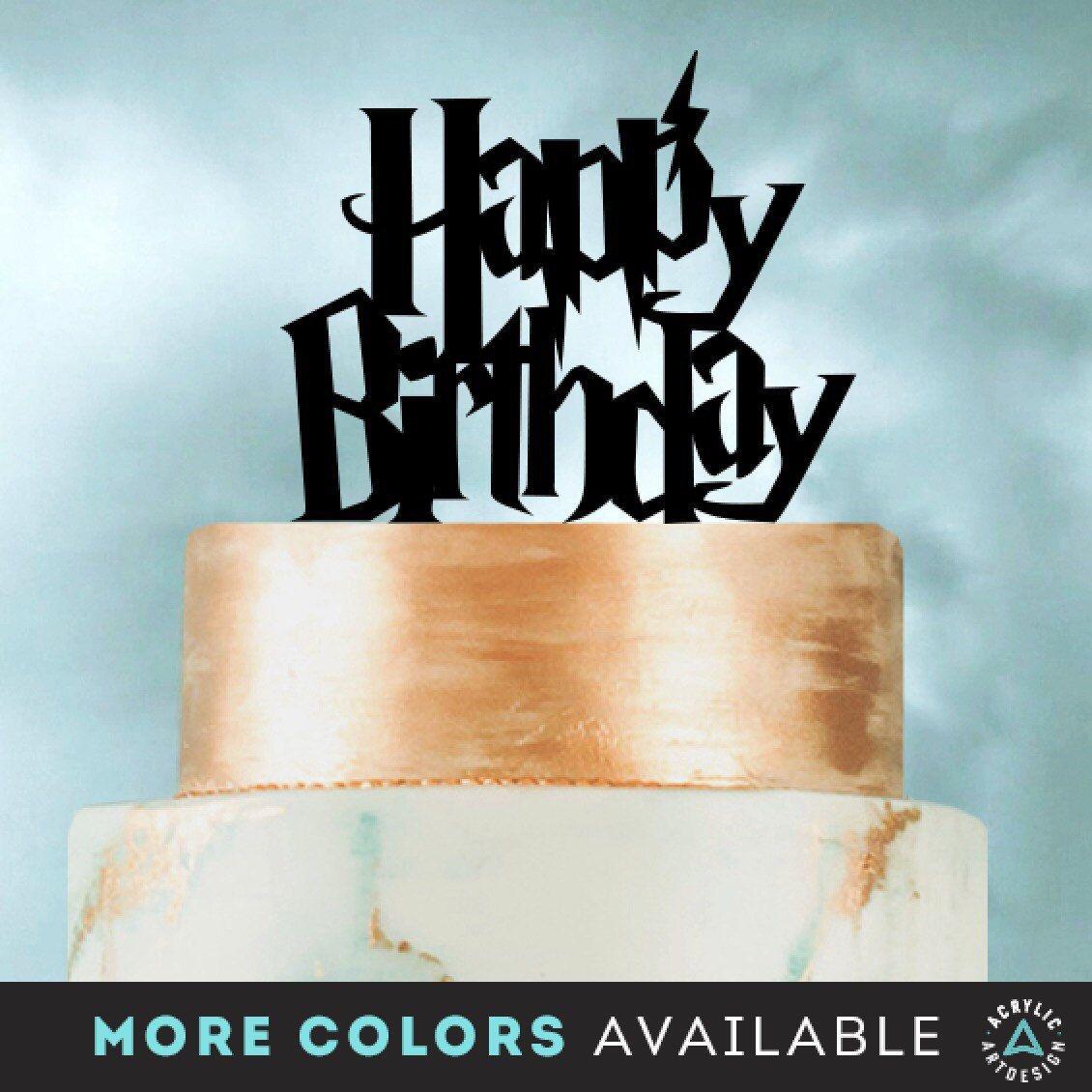 Happy Birthday Harry Potter Cake Topper By Acrylic Art Design