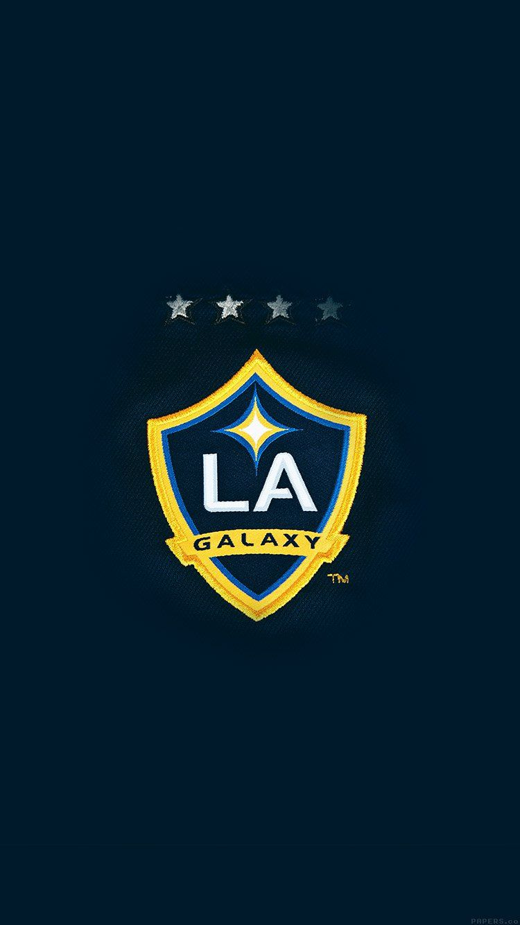 La Galaxy Logo Art Illust Wallpaper Hd Iphone La Galaxy La Galaxy Soccer Team Wallpaper