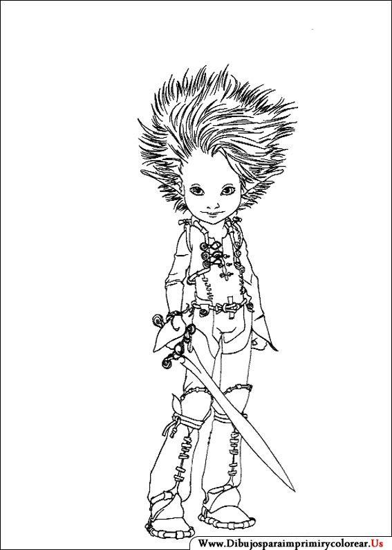 Dibujos de Arthur y los minimoys para Imprimir y Colorear Magni ...
