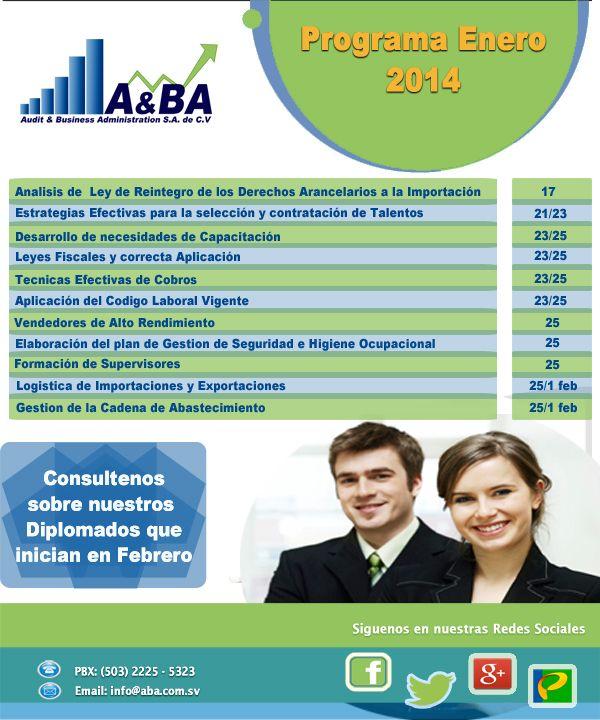 Programas que puedes Escoger. informate:  Email: info@aba.com.sv PBX: 2225-5323