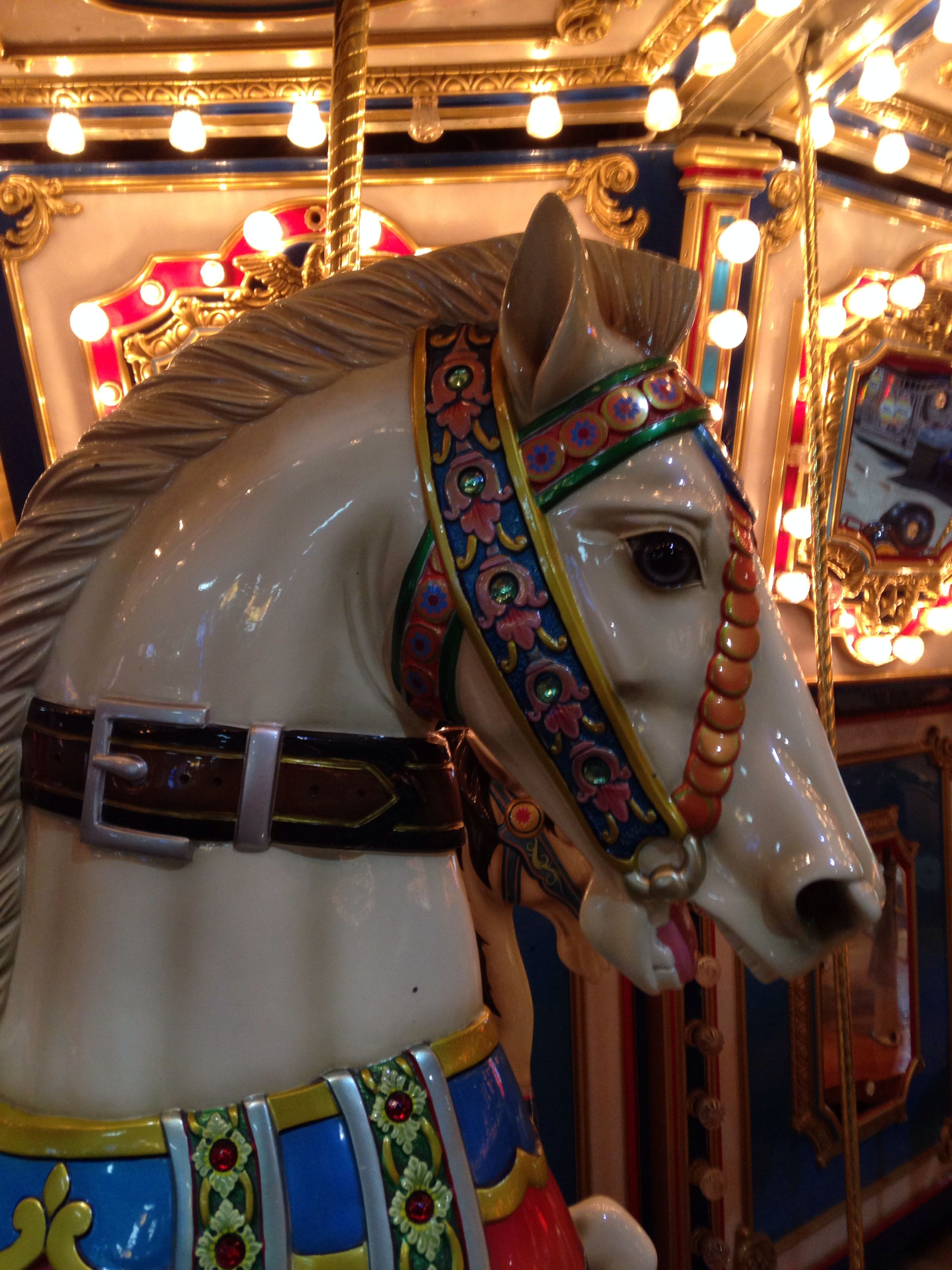 Carousel Head At Brunswick Zone Naperville Il Carousel Naperville Il Carousel Horses