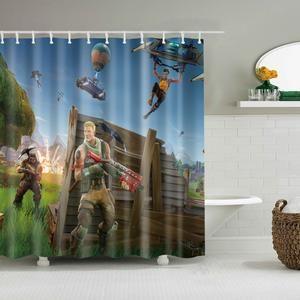 Geek Battle Poster Fortnite Shower Curtain Patterned Shower Curtain Curtains Shower Curtain