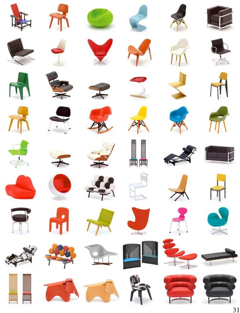 Furniture Design History name five of these chair designs, and win a free copy of the