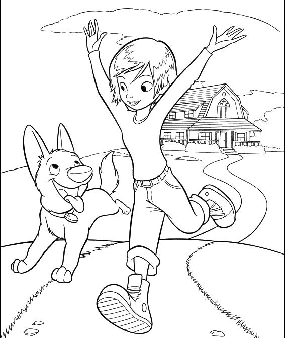 Bolt And Penny Running Coloring