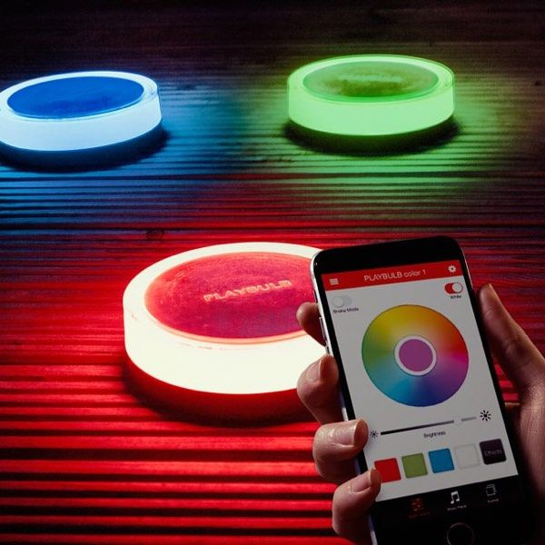 Add color and beautiful ambiance to your garden using Playbulb smart, solar-powered LED lights. During the day, these bulbs absorb enough light to power the lights for up to 20 hours.