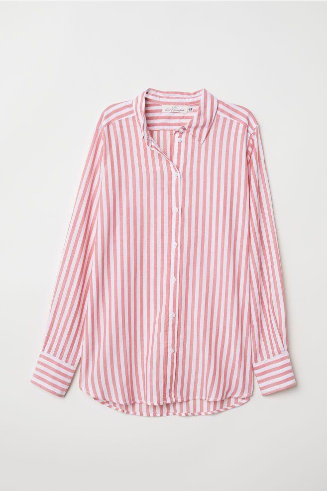 meditación Halar Árbol  Camisa de algodón - Rojo/Rayas blancas - MUJER | H&M ES | Camisas de  algodón, Ropa, Camisas
