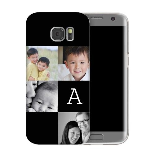Gallery Monogram Samsung Galaxy Case, Slim case, Glossy, Samsung Galaxy S7 edge, Black