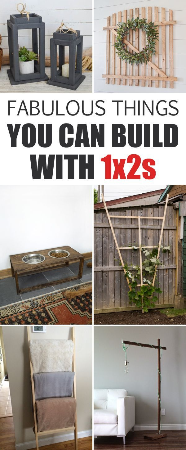 Fabulous Things You Can Build With 1x2s | Woodworking, Smallest ...