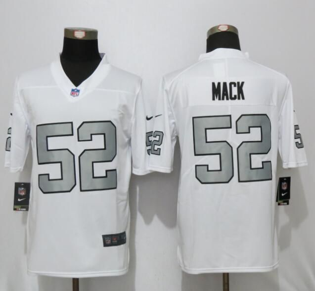 new oakland raiders 52 mack navy white color rush limited jersey 25 each without shipping