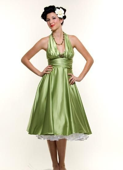 Marilyn Monroe Style Green Halter Homecoming Dress - XS to 3X ...