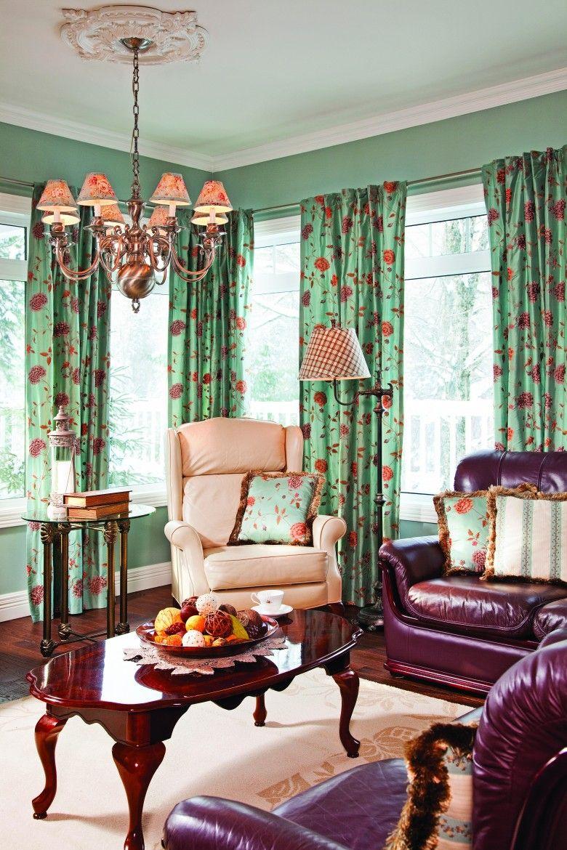 Salon, riche classique, design d\'intérieur, décoration, Le jardin ...