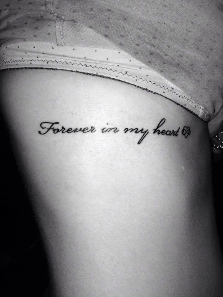 Forever In My Heart Tattoos Tattoos Small Tattoos Mom Tattoos