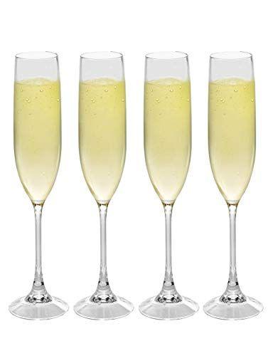 2b7c59ab455 Champagne Flute Glass 100% Tritan Unbreakable BPA Free Reusable ...