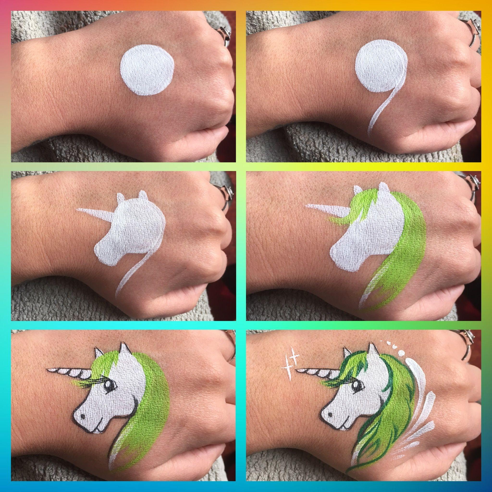 Ongekend Step by step unicorn | Schmink dieren - Schminken ontwerpen WM-28