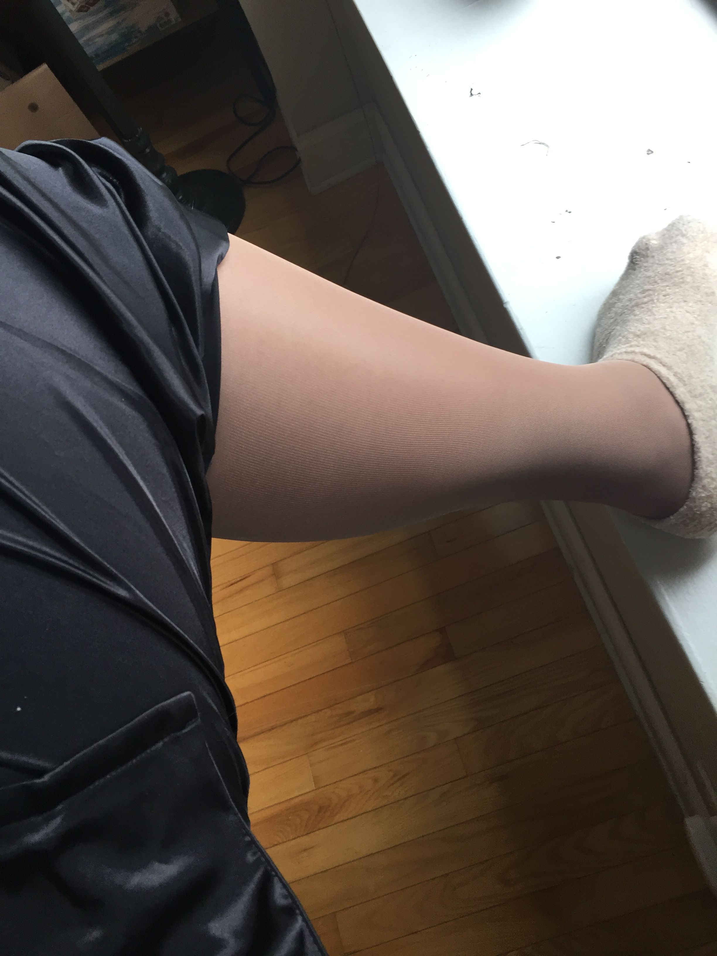 Can Shaved nylon stockings