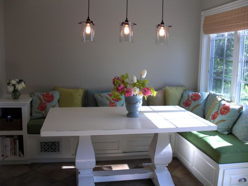 built in kitchen table cabinet packages seating design window seat banquette home decorating forum