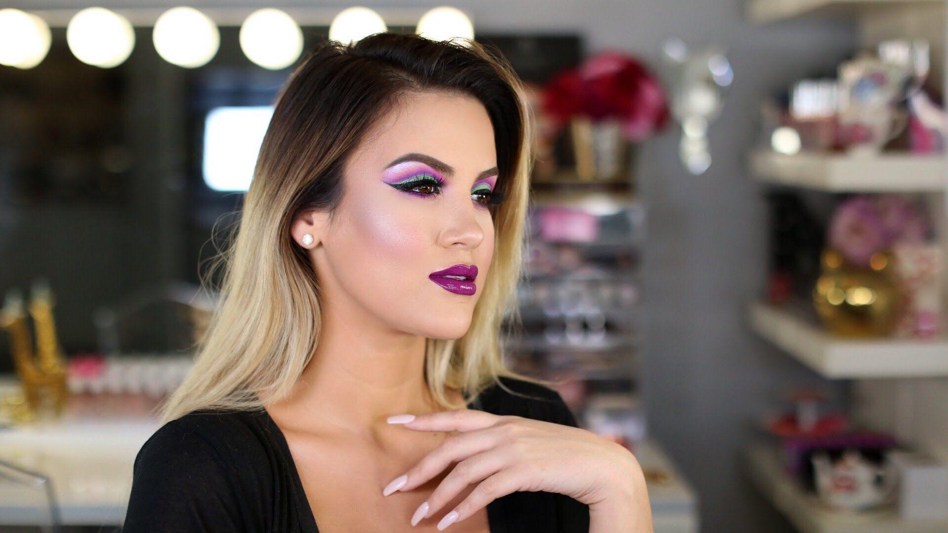 Makeup Look: Colorful Cut Crease + Bold Lip  Nicole Guerriero