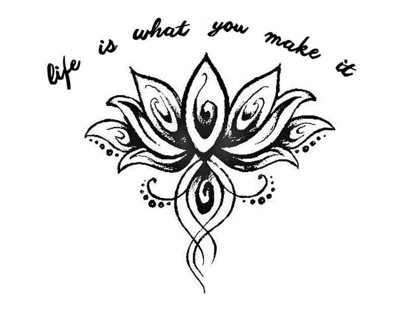a rough tattoo design tattoos pinterest tatuajes flor de loto y mandalas. Black Bedroom Furniture Sets. Home Design Ideas