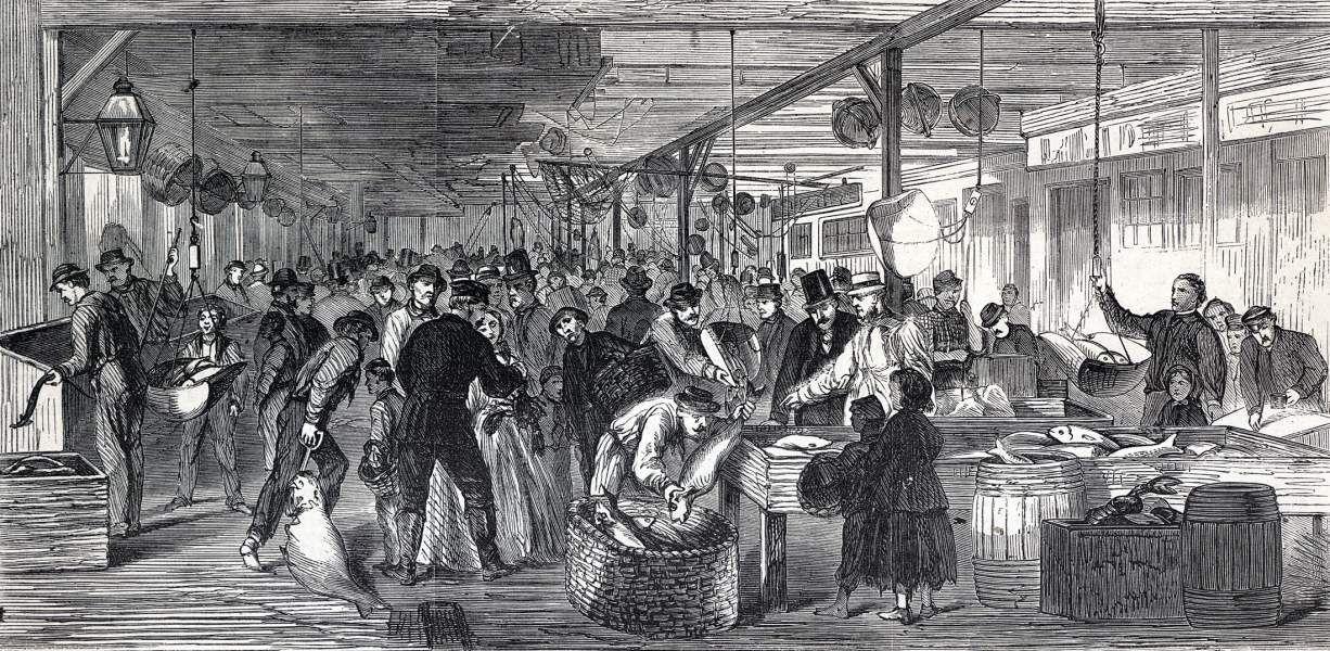 Fulton Fish Market New York City October 1865 Artist S