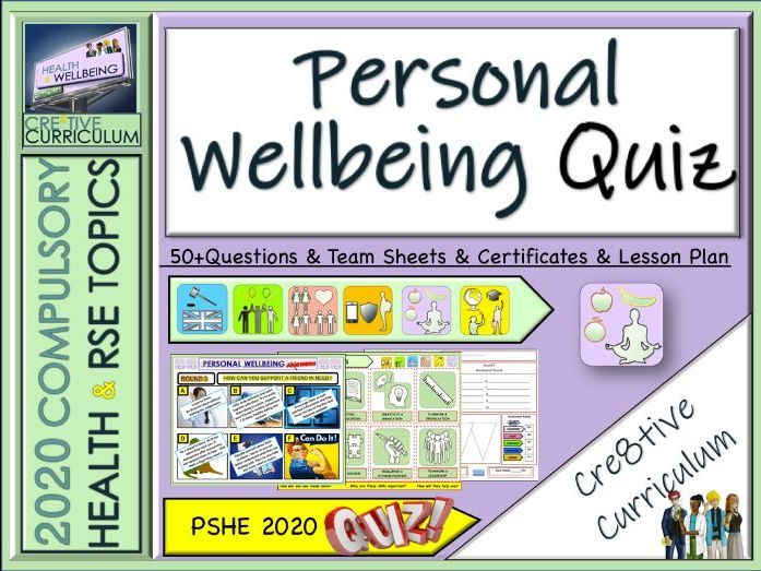 Personal Wellbeing Quiz   Mindfulness activities, End of ...