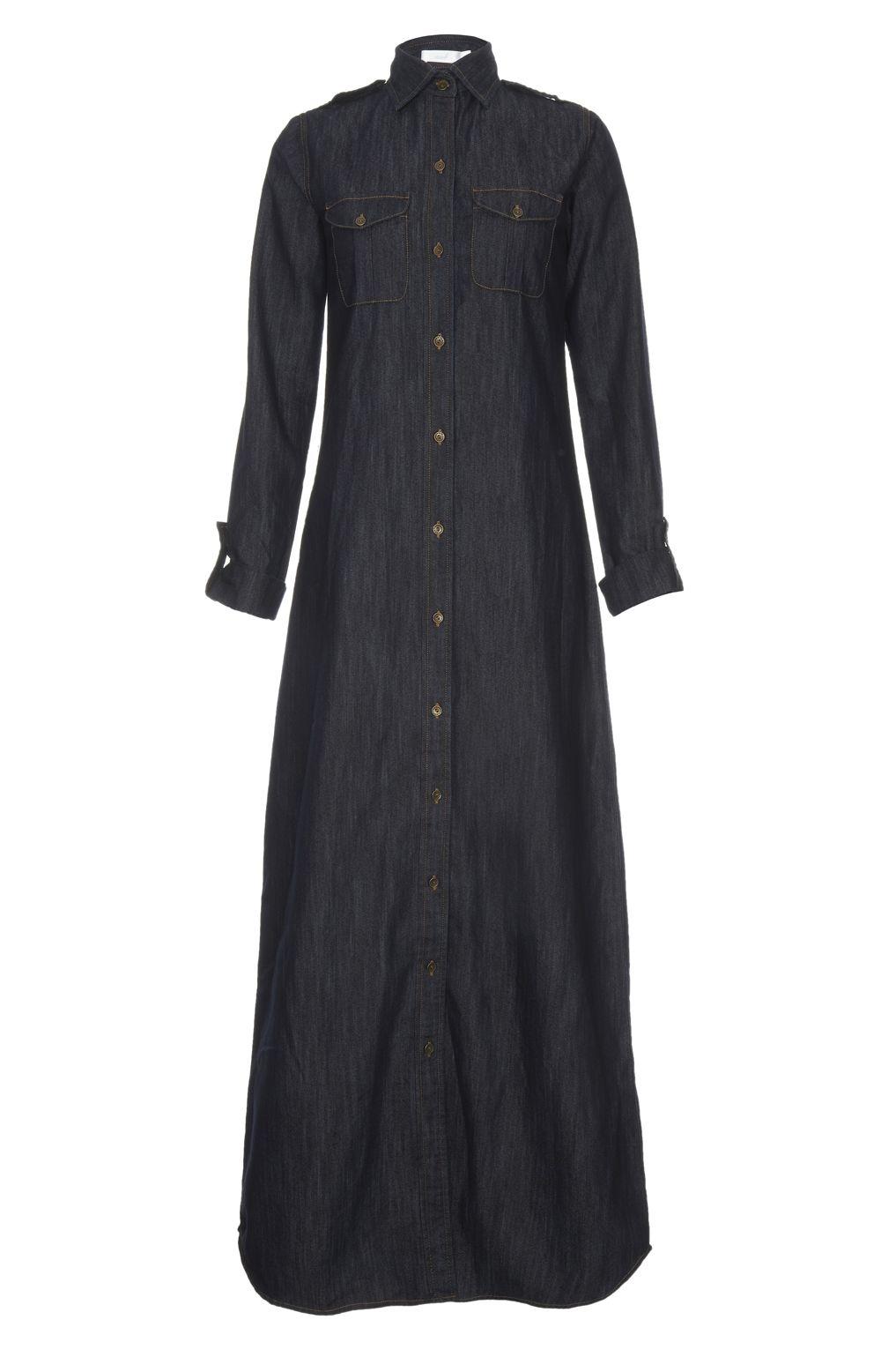 34f8605013 Long Sleeve Denim Maxi Dress Uk | Saddha