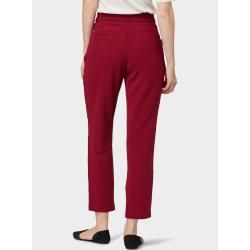 Photo of Tom Tailor women's loose-fit trousers, red, solid color, size 38 Tom TailorTom Tailor