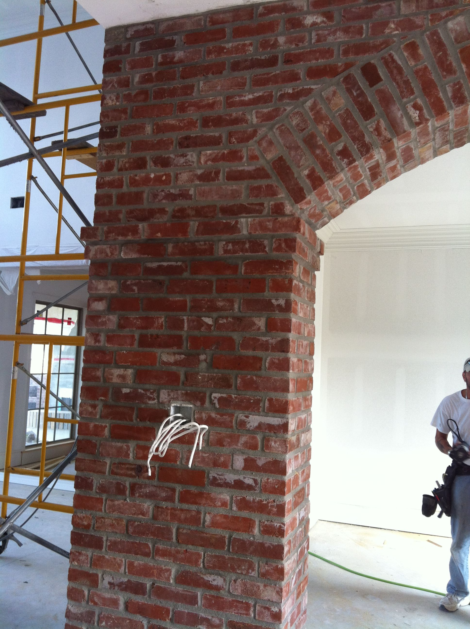 Love The Detail On Brick Arch New Bricks Made To Look Old