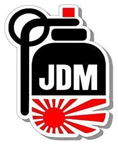 Jdm Hand Grenade Japanese Flag Racing Vinyl Car Decal Sticker Drift
