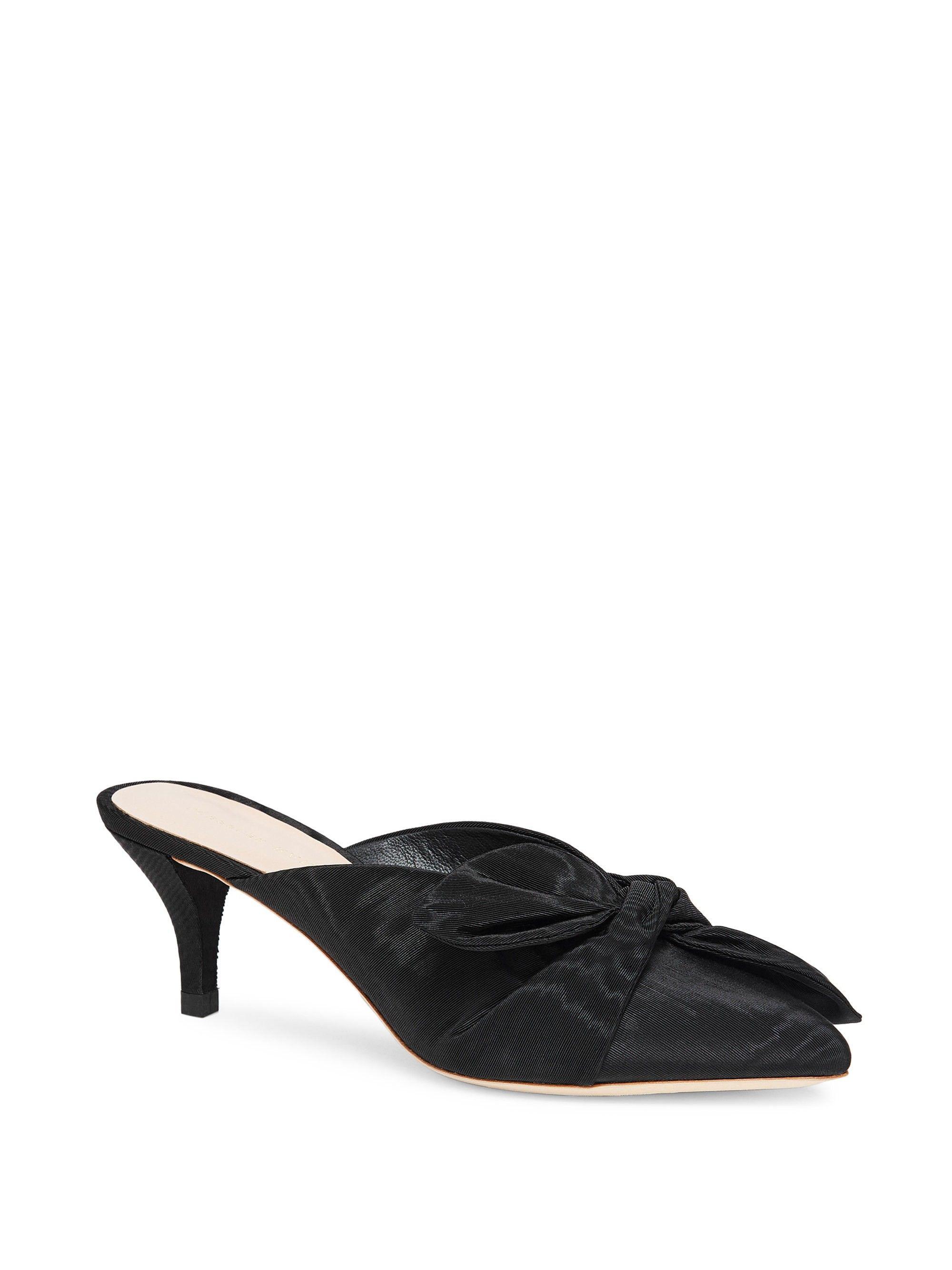 Loeffler Randall Jade Bow Kitten Heel Mule Black 8 5 Heels