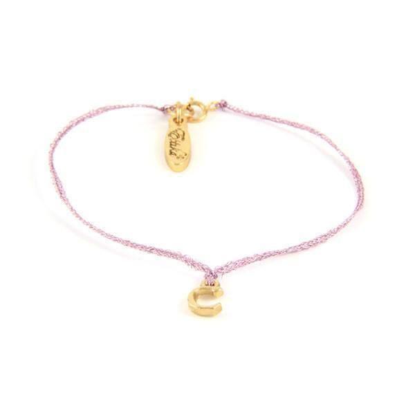 Initial C Metallic Thread Bracelet