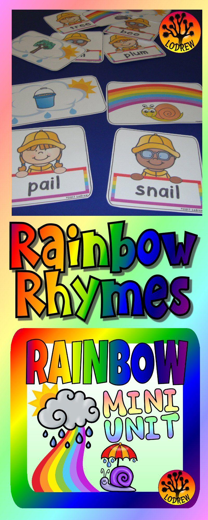 Spring Centers Activities Rainbow Centers Activities Rhyming ...