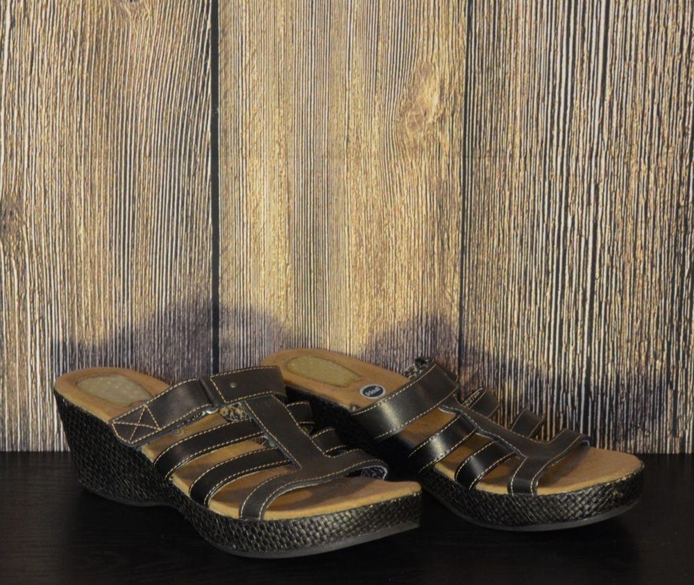 10e0213ef09c Women s Size 8 DR. SCHOLLS Advanced Comfort Series Black Strappy Velcro  Sandals  DrScholls  Comfort
