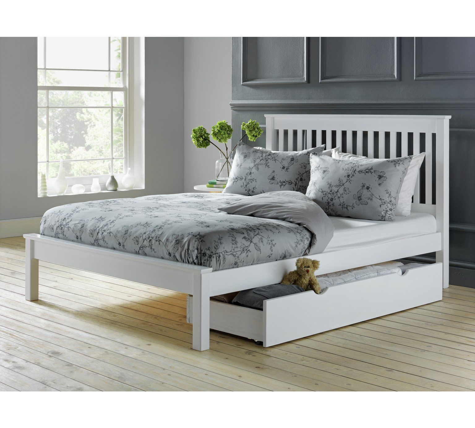 Best Buy Argos Home Aspley Double Bed Frame White Bed 640 x 480