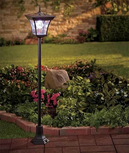 SOLAR LAMP POST GARDEN YARD LAWN PATIO WALKWAY PATH LIGHT OUTDOOR HOME DECOR